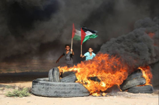 Demonstrations on the border between the Gaza Strip and Israel (Shehab website, July 2, 2017; Palinfo's Twitter account, July 10, 2017)