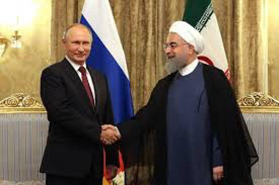 Meeting between Russian President Putin and President Rouhani in Tehran (Mehr, November 1, 2017).