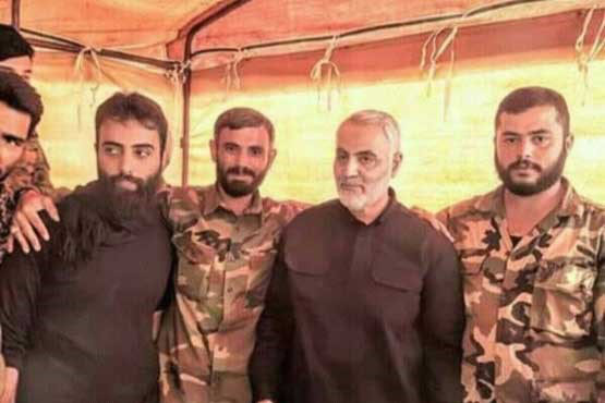 The Commander of the IRGC's Qods Force, Qasem Soleimani, in Deir Ezzor (Twitter, November 5, 2017)
