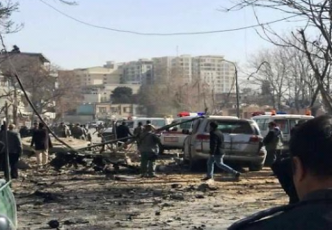 Scene of the attack near the old Interior Ministry building in Kabul (Pajhwok, January 27, 2018)