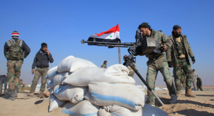 Trenches and fighting positions of the Headquarters for the Liberation of Al-Sham; they were abandoned north of the village of Abu Ad-Duhur and were captured by the Syrian army.