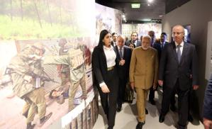 Visit of the Indian prime minister at the Yasser Arafat museum in Ramallah