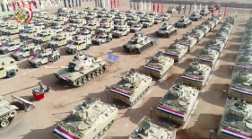 The Egyptian army preparing for the operation (official Facebook page of the Spokesman for the Egyptian Armed Forces, February 9, 2018)