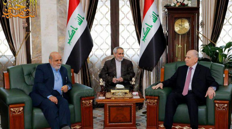The meeting of Iran's ambassador to Baghdad with the Iraqi Vice President, Osama al-Nujaifi (IRNA, February 6, 2018).