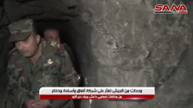 Senior Syrian army commander inside the tunnel network.
