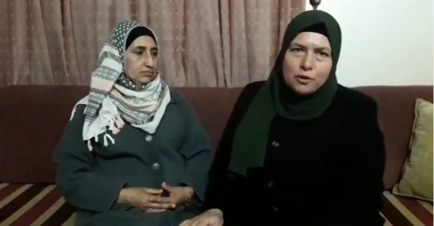 Ahmed Nasr Jarar's mother (right) thanks Fatah in Jenin for the house (YouTube, February 24, 2018).