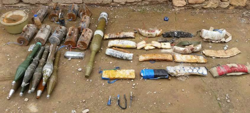 The weapons found in an ISIS cache (Al-Sumaria News, February 22, 2018)