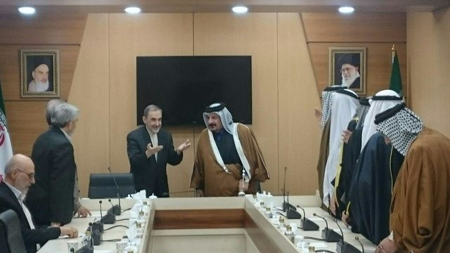 Velayati's meeting with the Sunni tribal leaders from Iraq (ISNA, February 26 2018).