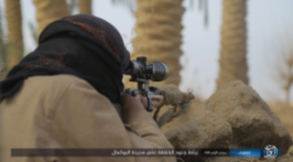 ISIS operatives deployed against Syrian army positions in Albukamal (Nasher, a file-sharing website, February 7, 2018)