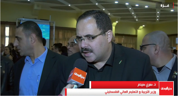 Sabri Sidam, PA minister of education, interviewed by the Dunia al-Watan TV station during a visit to the Gaza Strip (Dunia al-Watan, February 28, 2018).