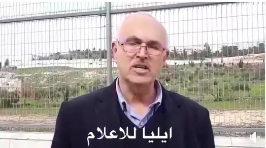 Samir Jibril, head of the Palestinian educational administration for the east Jerusalem district, praises the campaign led by the parents' committee in east Jerusalem.