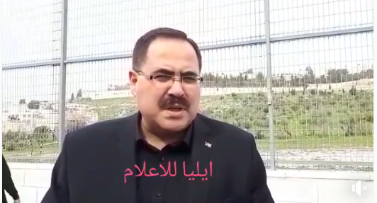 Sabri Sidam, Palestinian minister of education, praises the campaign (Facebook page of the committee of the parents of Palestinian students in Jerusalem, February 8, 2018).