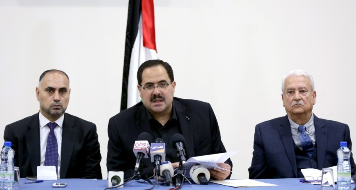 Press conference held by the Palestinian minister of education (Wafa, March 12, 2018).