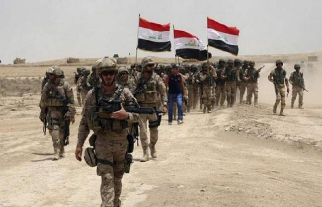 Iraqi army during a security activity (Iraqi News Agency, March 11, 2018)