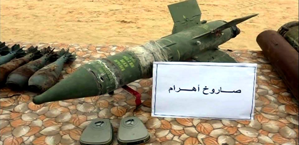 Ahram antitank missiles, the Egyptian version of the Russian Sagger antitank missile (official Facebook page of the Egyptian Armed Forces, March 10, 2018)