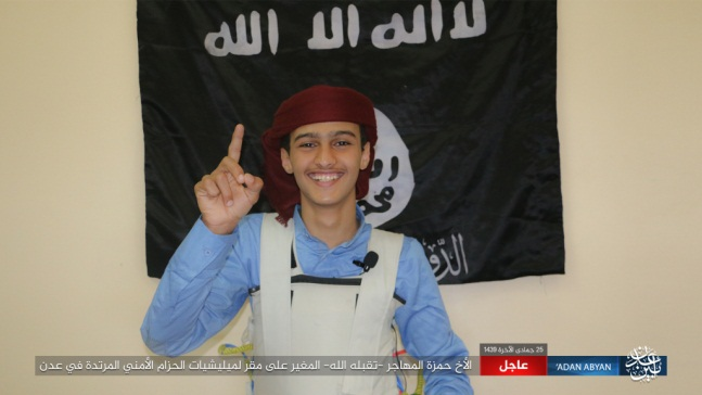 Suicide bomber Hamza al-Muhajir, who blew up the car bomb in Aden.