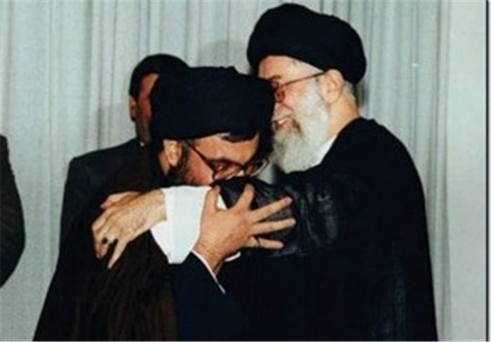 Iranian Supreme Leader Khamenei with Hezbollah Secretary General Nasrallah (Tasnim, November 12, 2014).