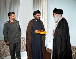 The Supreme Leader Khamenei, Hezbollah Secretary General, Nasrallah, and the Commander of the IRGC's Qods Force, Qasem Soleimani (the website of the Supreme Leader, August 11, 2016)