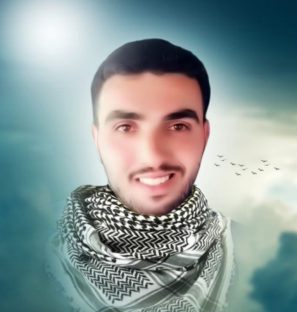 A portrait of the Palestinian who carried out the vehicular attack representing him as a hero.