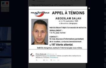The French police request from the public for help in finding Abdeslam (Twitter account of the French police, November 15, 2015)