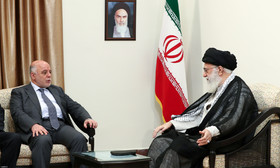 A meeting between Supreme Leader Khamenei and al-Abadi, the Prime Minister of Iraq (the website of the Supreme Leader, June 21, 2017)