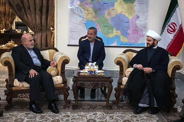 The meeting between the Iranian ambassador to Iraq with Sheikh Akram al-Kaabi (the website of Harakat al-Nujaba', March 26, 2018