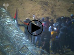 Palestinians riot and attempt to vandalize the barbed wire fence (IDF spokesperson, April 13, 2018).