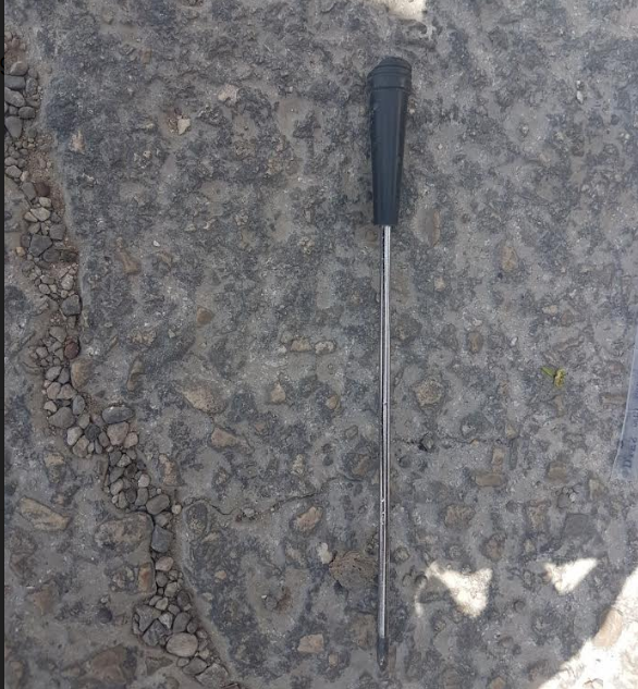 The screwdriver used in the attempted stabbing attack (Israel Police Force, April 8, 2018).