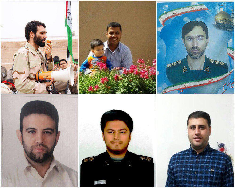 Photos of six of the seven Iranians killed in the strike in Syria (Iranian media, April 10 2018).