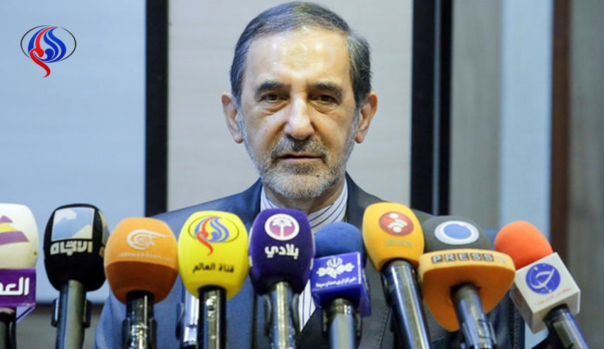 The Adviser to the Supreme Leader, Ali-Akbar Velayati, at a press conference in Damascus (al-Alam, April 10 2018).