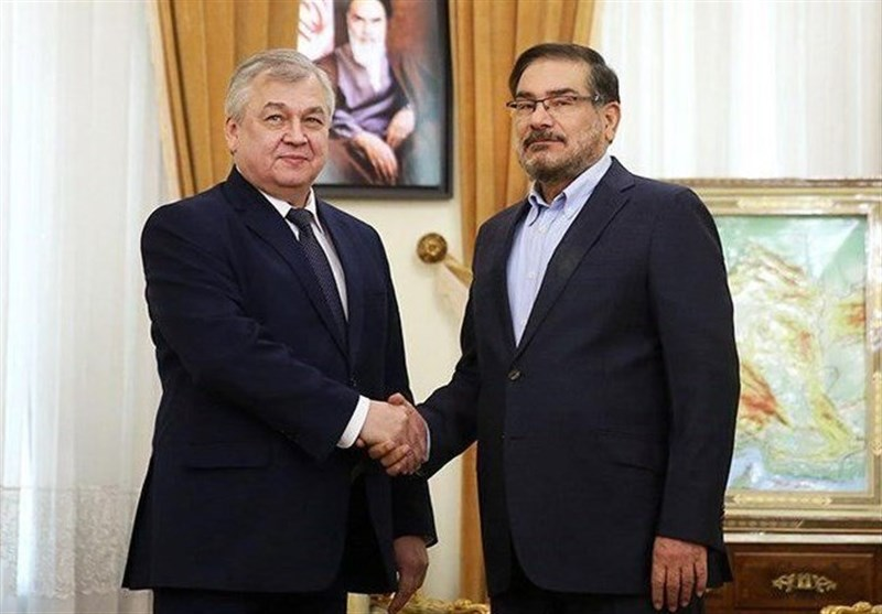 The meeting between the envoy of the Russian president on Syria with Ali Shamkhani (Tasnim, April 11 2018).