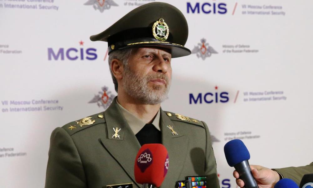 The Iranian defense minister in Moscow (IRNA, April 4 2018).
