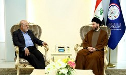 The meeting between the Iranian ambassador to Baghdad with the Shi'ite cleric, Sayed Ammar al-Hakim (Fars, April 5 2018).