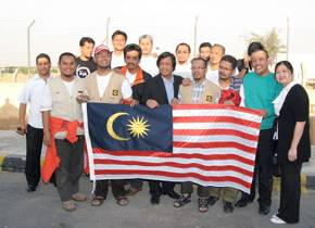 The Malaysian delegation that participated in the Mavi Marmara flotilla