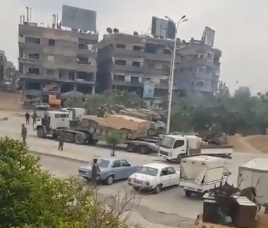 Reinforcements of the Syrian army and the forces supporting it heading to the Yarmouk refugee camp and the Al-Qadam neighborhood (Butulat Al-Jaysh Al-Suri, YouTube, April 12, 2018)