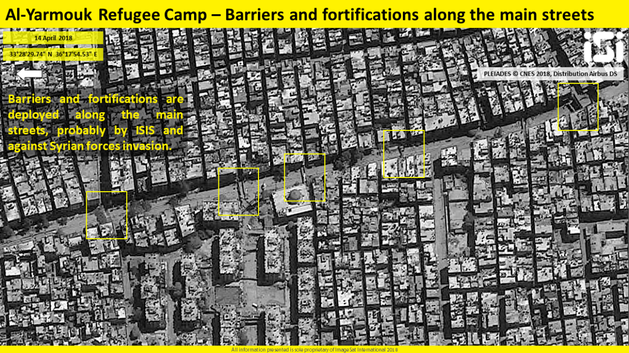 ISIS's entrenchment in the Yarmouk refugee camp – ImageSat International (ISI)