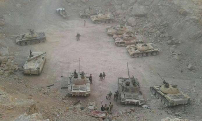 Tanks seized by the Syrian army (Islamic World Update Twitter account, April 21, 2018)