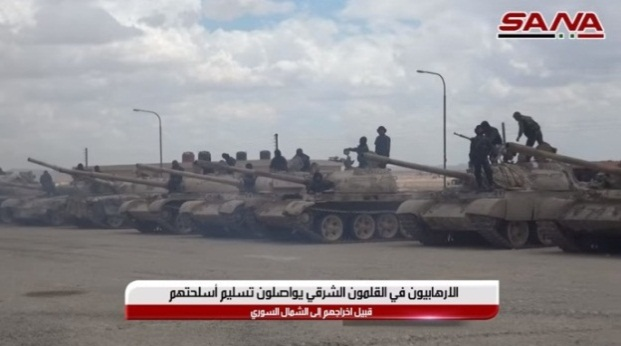 Tanks handed over to the Syrian army.
