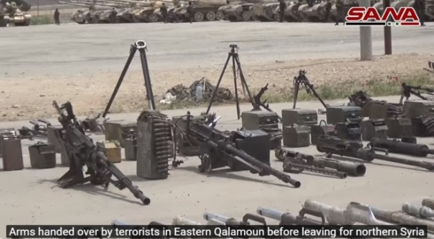 Anti-aircraft guns handed over to the Syrian army.
