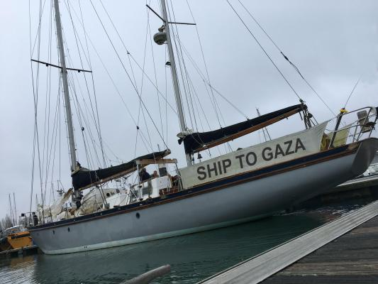 Photo attached to the report on the purchase of the second boat by the Swedish Ship to Gaza campaign (website of the Swedish Ship to Gaza campaign, February 15, 2018)