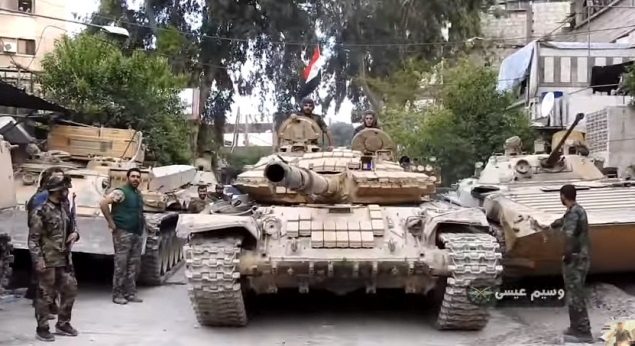 Tank of the Syrian army's Republican Guard Brigade.
