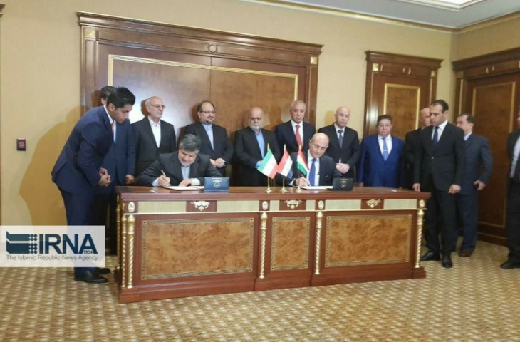 Signing of the agreement concerning economic cooperation between Iran and Iraqi Kurdistan (IRNA, May 3, 2018)