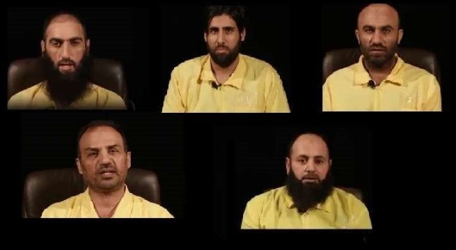 The five senior ISIS commanders captured by the Iraqis (Al-Alam, May 11, 2018)