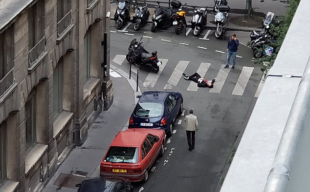Scene of the attack in Paris (Haqq, May 13, 2018)