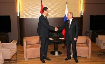 Vladimir Putin and Bashar Assad at their meeting in Sochi (Kremlin website, May 17, 2018)