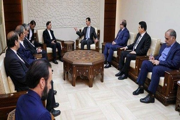 The meeting between President Assad and the Iranian minister of transportation and urban development (Mehr, May 18, 2018)