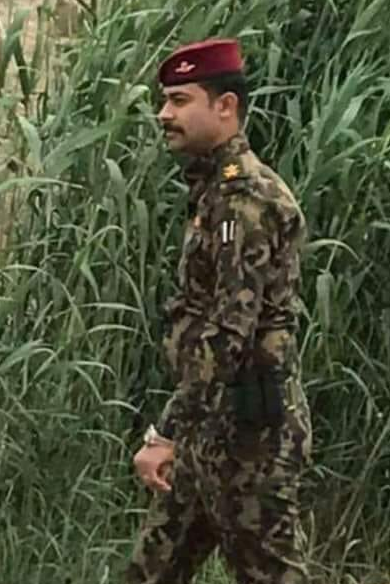 The man in charge of military intelligence in the Al-Ghazaliyah area (northwest Baghdad), who was killed in the suicide bombing attack (Haqq, May 24, 2018)