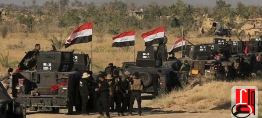 Convoy of Iraqi police during a security operation (Iraqi News Agency, May 26, 2018)
