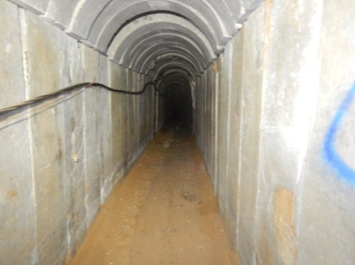 The terrorist tunnel penetrating into Israeli territory attacked on May 29, 2018.
