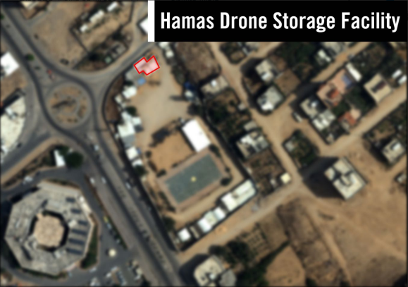 Aerial photographs of targets attacked in the Gaza Strip (IDF Twitter account, May 30, 2018).
